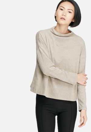 VILA Lune Knit Top Blouses Beige