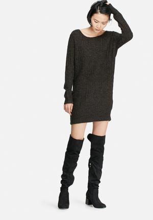 VILA Alba Knit Dress Casual Black