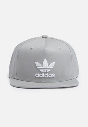 Adidas Originals Trefoil Snapback Cap Headwear Grey & White