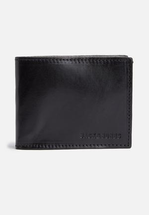Jack & Jones Footwear & Accessories Leather Wallet Black