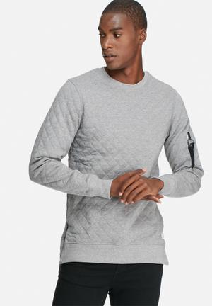 Jack & Jones CORE Zobel Crew Sweat Hoodies & Sweatshirts Grey