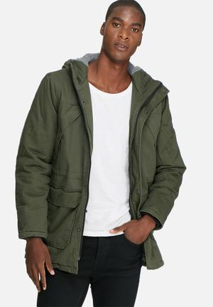 Only & Sons Vant Long Jacket Green
