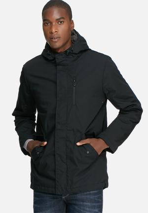 Only & Sons Vald Long Jacket Black