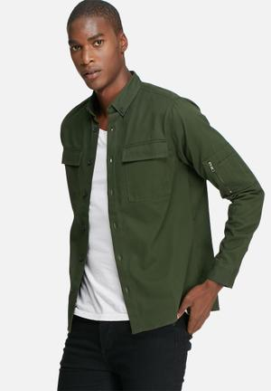 Only & Sons Utility Over Shirt Green