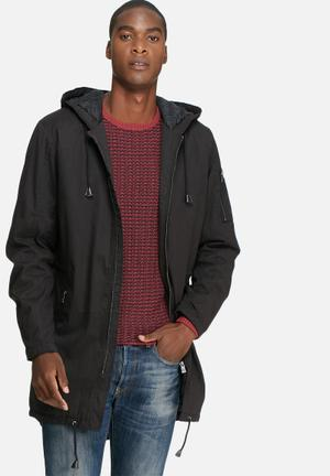 Only & Sons Noah Parka Jacket Black