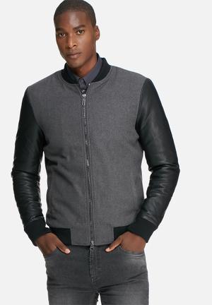 Only & Sons Oudie Jacket Black & Grey