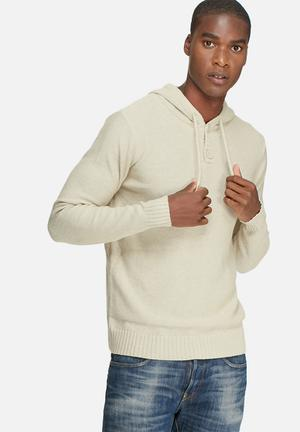 Only & Sons Daniel Hoodie Knit Knitwear Cream