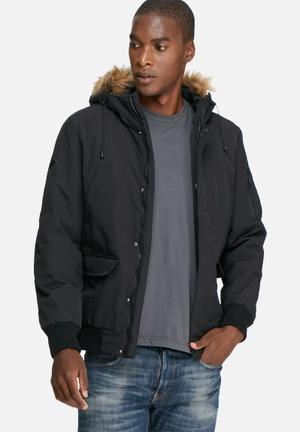 Only & Sons Adam Bomber Jacket Black