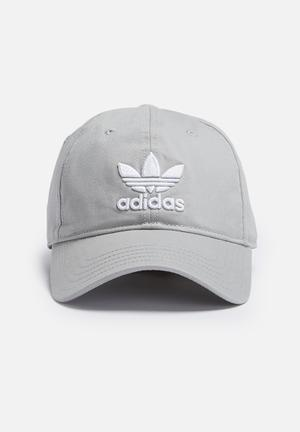 Adidas Originals Trefoil Adjustable Cap Headwear Grey & White