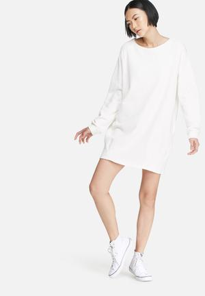 Glamorous Relaxed Sweat Dress Casual White