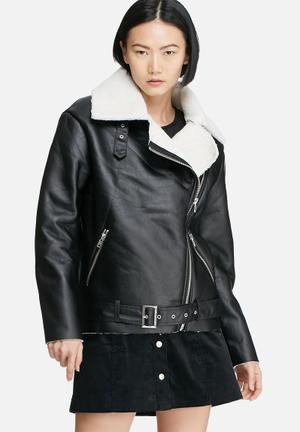 Glamorous Biker Jacket Black