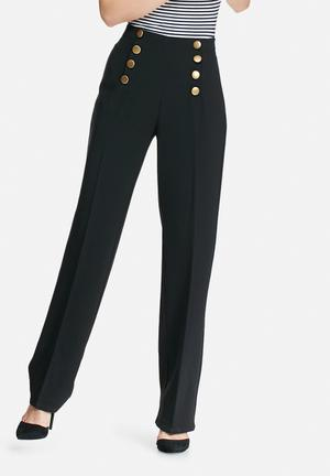 Y.A.S Roger Wide Pants Trousers Black