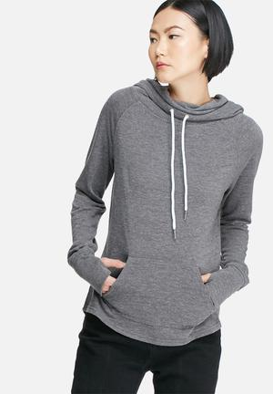 Glamorous Hooded Sweat Top Hoodies & Jackets Charcoal