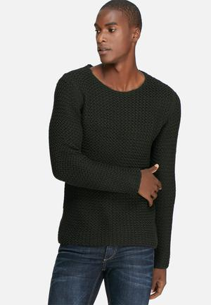 Only & Sons Chastin Crew Knit Knitwear Charcoal