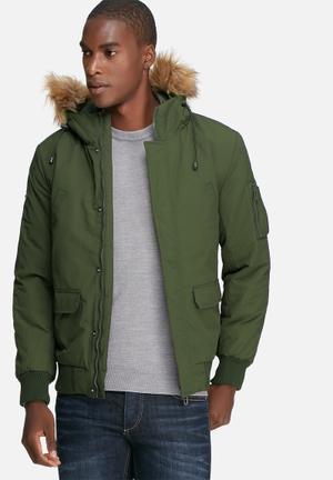 Only & Sons Adam Bomber Jacket Khaki