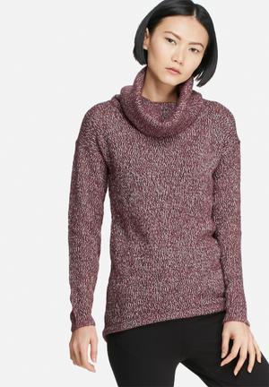 Vero Moda Jive Cowlneck Sweater Knitwear Burgundy