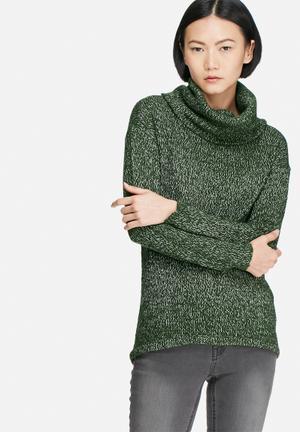 Vero Moda Jive Cowlneck Sweater Knitwear Green