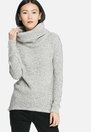 Vero Moda Jive Cowlneck Sweater Knitwear Grey