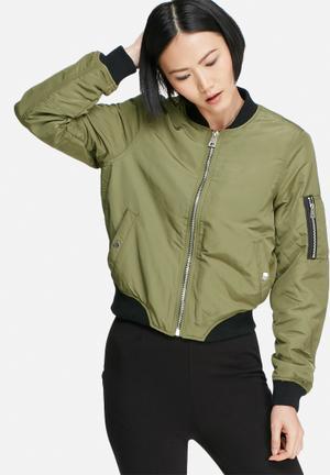 Vero Moda Dicte Bomber Jacket Green