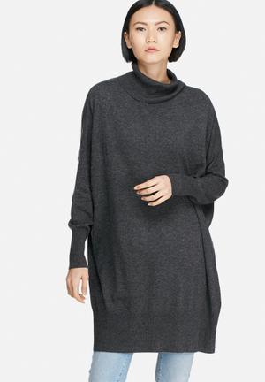 Vero Moda Indi Wool Oversize Sweater Knitwear Dark Grey
