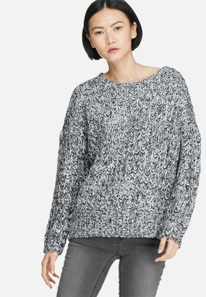 Vero Moda Smile Sweater Knitwear Black, Grey, White & Silver