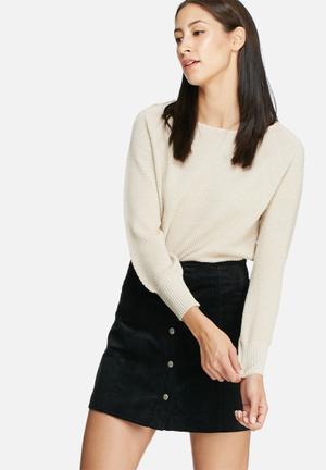 ONLY Viola Boatneck Sweater Knitwear Beige