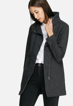 ONLY Jamie Seoul Wool Coat Jackets Charcoal