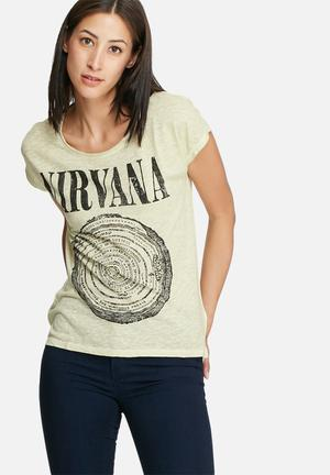 ONLY Nirvana Tee T-Shirts, Vests & Camis Warm Cream Melange