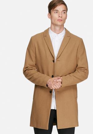 Jack & Jones Premium Christian Wool Coat Camel