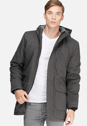 Only & Sons Vant Long Jacket Dark Grey/Brown