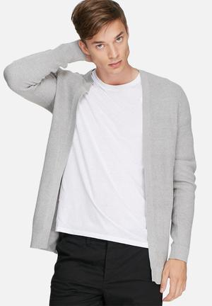 Selected Homme Well Cardigan Knitwear Grey