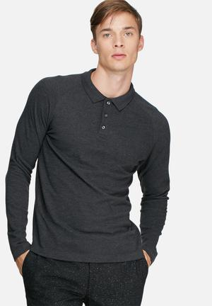 Selected Homme Casual Polo T-Shirts & Vests Charcoal