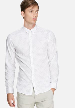 Selected Homme Newton Slim Shirt White & Black