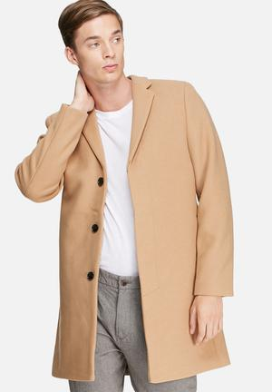 Selected Homme Brook Coat Caramel