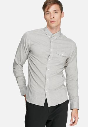 Selected Homme Salt Slim Shirt Grey