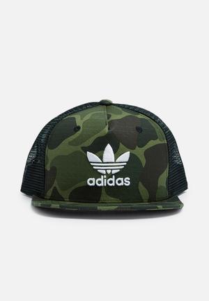 Adidas Originals Camo Snapback Trucker Headwear Camo