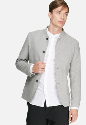 Selected Homme Reece Blazer Jackets & Coats Grey