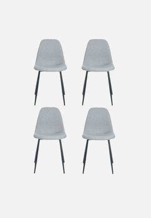 Sixth Floor Wilma Dining Chair Set Of Four Sawana fabric & 100% Polyester