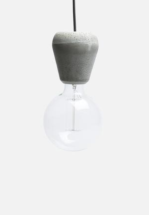 Emerging Creatives Pebble Pendant Lamp Lighting Cement