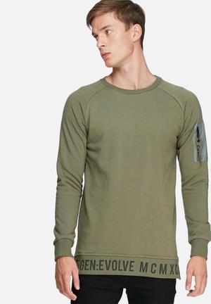 Jack & Jones CORE Evolve Crew Sweat Hoodies & Sweatshirts Green
