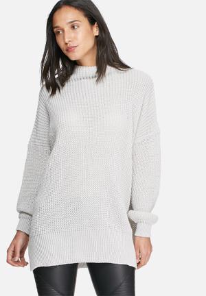 Daisy Street Cocoon Jumper Knitwear Light Grey