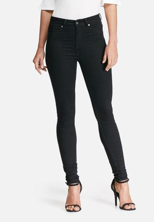 Dailyfriday High Waisted Super Stretch Jeggings Jeans Black