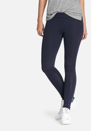 Dailyfriday Hi-waisted Treggings Trousers Navy