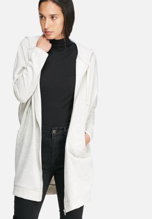 Noisy May Loui Zip Oversize Sweat Hoodies & Jackets White