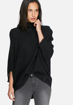Noisy May Lake Knit Knitwear Black