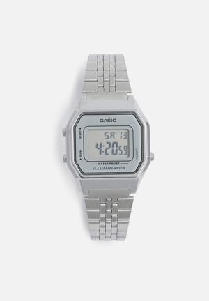 Casio Retro Digital Watch LA680WA-7DF Stainless Steel