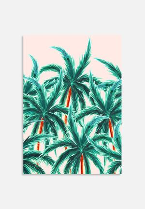 83 Oranges Coconut Trees Art