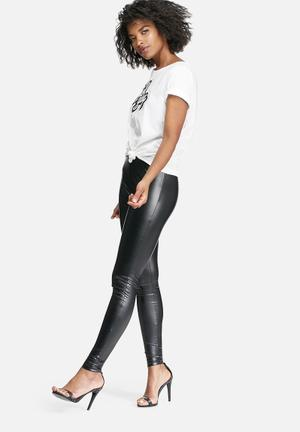 Jacqueline De Yong Laila Cut Leggings Trousers Black