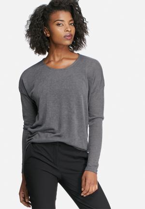 Vero Moda City Line Top T-Shirts, Vests & Camis Grey