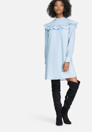 Vero Moda Rachel Frill Dress Casual Blue